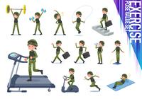 flat type military wear women_exercise