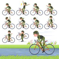 flat type military wear women_road bike