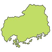 広島 地図 フレーム アイコン