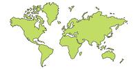 世界 地図 大陸 アイコン