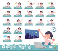 flat type chiropractor women_desk work