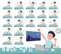 flat type chiropractor men_desk work