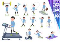 flat type dad Blue sportswear_exercise