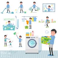 flat type dad Blue sportswear_housekeeping