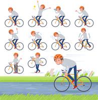 flat type men grey foodie sportswear_road bike