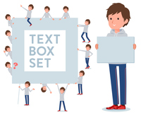flat type men grey foodie sportswear_text box