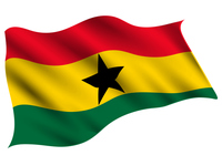 ガーナ  国 旗 アイコン
