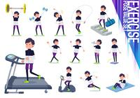 flat type man B&W sportswear_exercise