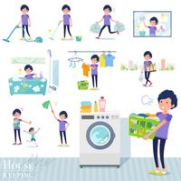flat type men blue sportswear_housekeeping