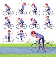 flat type men blue sportswear_road bike