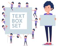 flat type men blue sportswear_text box