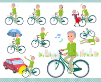 flat type grandpa green Sportswear_city cycle