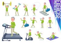 flat type grandpa green Sportswear_exercise