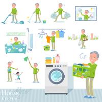 flat type grandpa green Sportswear_housekeeping