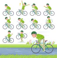 flat type grandpa green Sportswear_road bike
