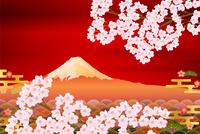 富士山 桜 春 背景