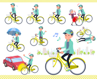 flat type man Blue green Sportswear_city cycle