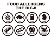 食物アレルギー誘発物質 8品目 アイコン