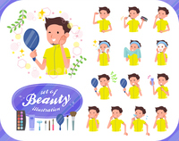 flat type men yellow sportswear_beauty