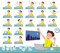 flat type men yellow sportswear_desk work