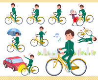 flat type school boy green jersey_city cycle