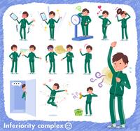 flat type school boy green jersey_complex