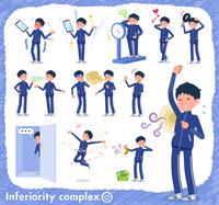 flat type school boy Blue jersey_complex