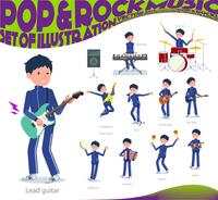 flat type school boy Blue jersey_pop music