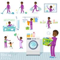 flat type school boy jersey black_housekeeping