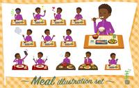 flat type school boy jersey black_Meal