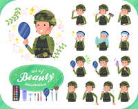 flat type military wear man_beauty