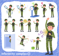 flat type military wear man_complex