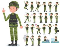 flat type military wear man_emotion