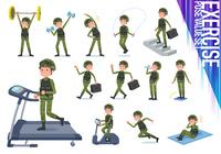 flat type military wear man_exercise