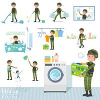 flat type military wear man_housekeeping