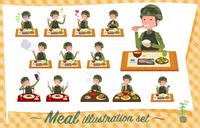 flat type military wear man_Meal