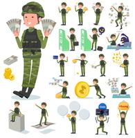 flat type military wear man_money