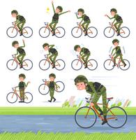 flat type military wear man_road bike