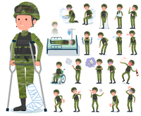flat type military wear man_sickness