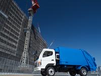 工事現場と清掃車