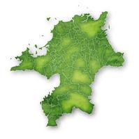 福岡 地図 緑 アイコン