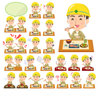 helmet worker men_Meal