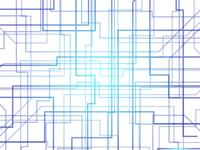 ブルー 回路 テクノロジー 背景