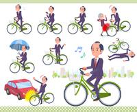 flat type samurai Businessman_city cycle