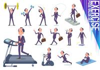 flat type samurai Businessman_exercise