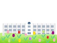 チューリップ 花 学校 背景