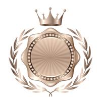 王冠 メダル 銀 アイコン