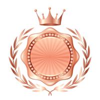 王冠 メダル 銅 アイコン