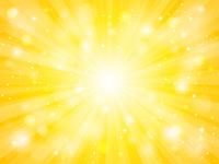 黄色 放射状 光 キラキラ 背景