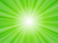 緑色 放射状 光 キラキラ 背景